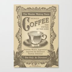 Coffee Homage Canvas Print