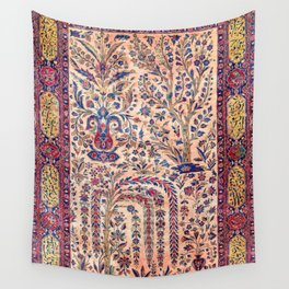 Silk Kashan Central Persian Rug Print Wall Tapestry