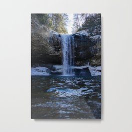 Cloudland Canyon Waterfall Metal Print