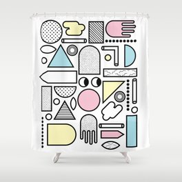 Shapes for Dayz Shower Curtain
