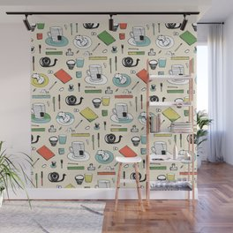 Coffee, journals and peace of mind. Wall Mural