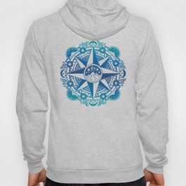 Journey to Moon Mountain | Turquoise Navy Ombré Hoody