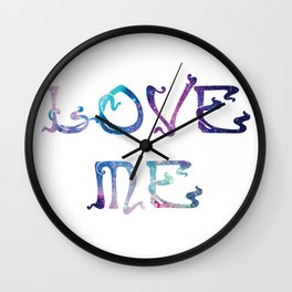 Love me. it's written in the stars that you should Wall Clock