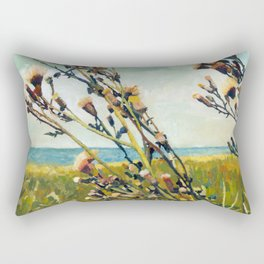 Thistles on the Beach Rectangular Pillow