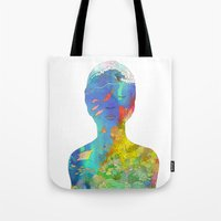 kozyndan Tote Bags featuring Ocean Thoughts by kozyndan