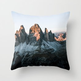 Dolomites sunset panorama - Landscape Photography Throw Pillow
