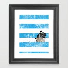 Pirates Love Stripes Framed Art Print