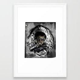 mono-print based off dead Framed Art Print
