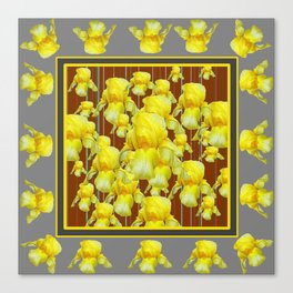 """""""FOR LOVE OF YELLOW IRIS"""" Canvas Print"""