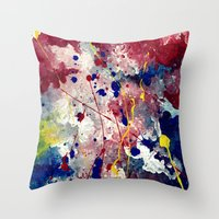 fireworks Throw Pillows featuring Fireworks by Tia Hank