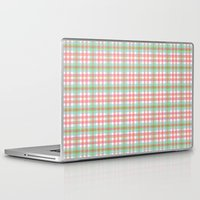 preppy Laptop & iPad Skins featuring Preppy Plaid by Laura