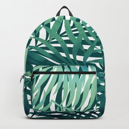 Tropical Palm Leaves, Blue and Green Backpack