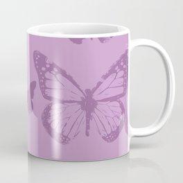 violet batterfly Coffee Mug