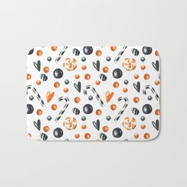 Happy halloween pattern with candies and lollipops Bath Mat