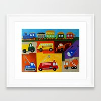 cars Framed Art Prints featuring Cars  by MNA Art And Graphics