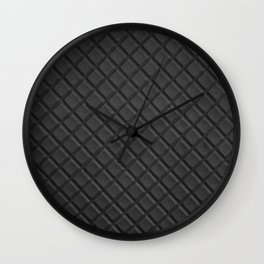 Black leather lattice pattern - By Brian Vegas Wall Clock