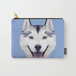 Husky low poly. Carry-All Pouch