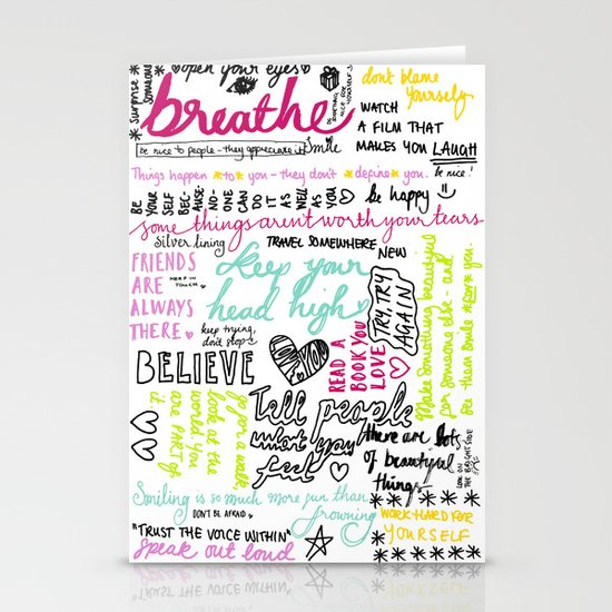 Typography:  Messages to myself Stationery Cards