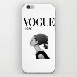 A digitally repainted  1950 Hepburn's Magazine cover iPhone Skin