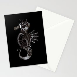 Steampunk Seahorse Illustration Stationery Cards