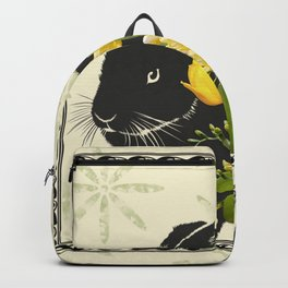 Bunny with Spring Flowers Backpack