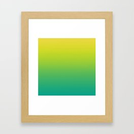 Meadowlark, Lime Punch, Arcadia Blurred Minimal Gradient | Pantone colors of the year 2018 Framed Art Print
