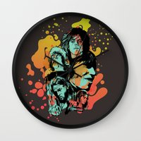 floyd Wall Clocks featuring Pink Floyd Tribute by RJ Artworks