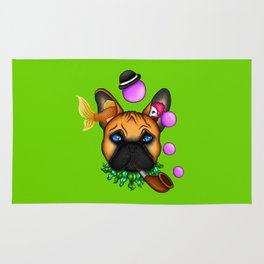 Drunk Dog (Green) Rug