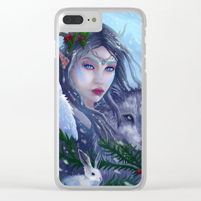Winter Goddess Clear iPhone Case