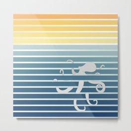 Octopus Gradient Metal Print