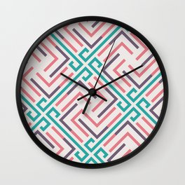Pre-Columbian pattern Wall Clock