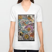 spirited away V-neck T-shirts featuring Spirited Away by alxbngala
