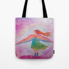 Rainbow Wings Tote Bag