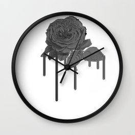 No Feelings Aesthetic Rose Flower design with japanese text product Wall Clock