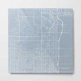 Scottsdale Map, USA - Slate Metal Print