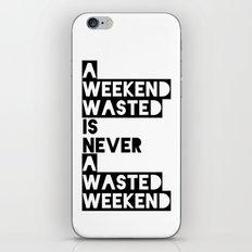 A Weekend Water (Black) iPhone & iPod Skin