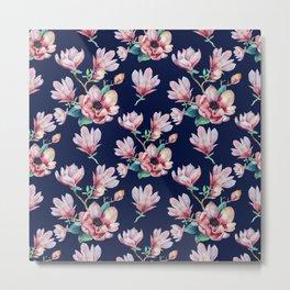 Romantic Floral Seamles Pattern 2 Metal Print