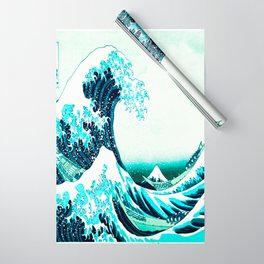 the great wave : aqua teal Wrapping Paper