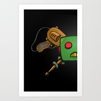 Robot and Rayguns Art Print