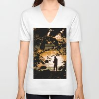 fishing V-neck T-shirts featuring Fishing by Svetlana Korneliuk