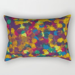 drawing and painting circle in orange red green and blue abstract background Rectangular Pillow