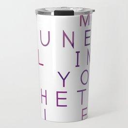 Bad Luck And Misfortune - Typography Design Travel Mug