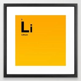 Lithium Framed Art Print
