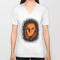 horror V-neck T-shirts featuring Horror by Square Lemon