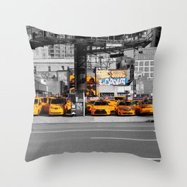 Taxi! - NYC series VI. -  Throw Pillow