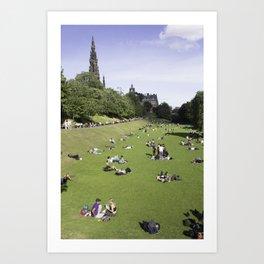 Princes Street Gardens on a sunny day 1 Art Print