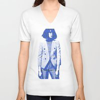 suit V-neck T-shirts featuring Suit by fashionistheonlycure