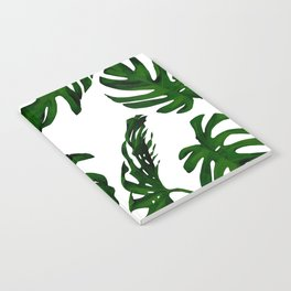 Simply Tropical Palm Leaves in Jungle Green Notebook