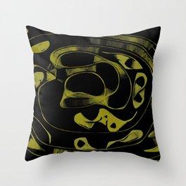 Golden alchemy Throw Pillow