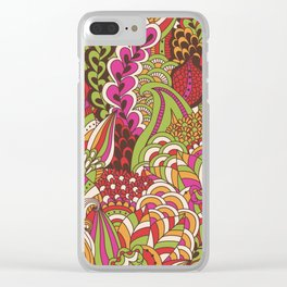 Paisly Pop Tangle #4 Clear iPhone Case